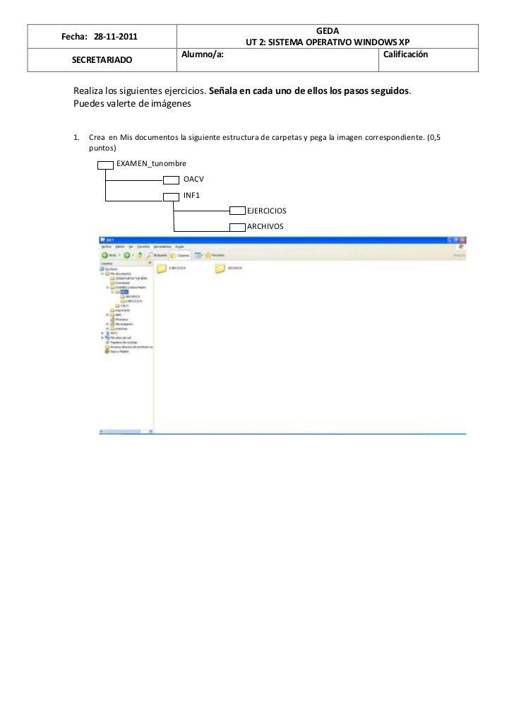 GEDAFecha: 28-11-2011                                                  UT 2: SISTEMA OPERATIVO WINDOWS XP                 ...