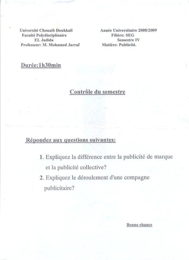 Examen publicité 1
