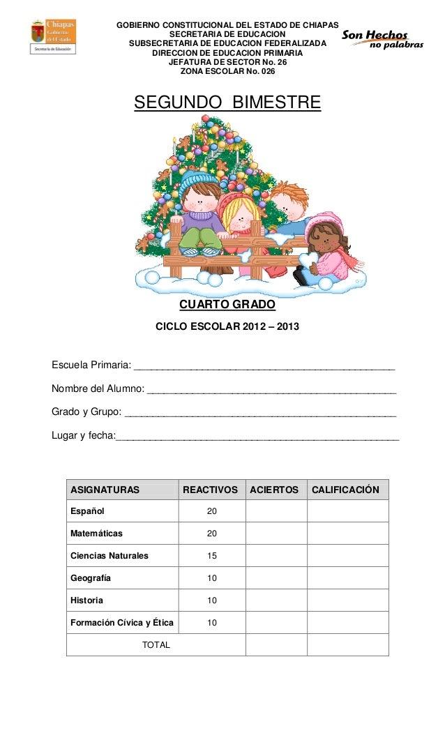 GOBIERNO CONSTITUCIONAL DEL ESTADO DE CHIAPAS                          SECRETARIA DE EDUCACION                 SUBSECRETAR...