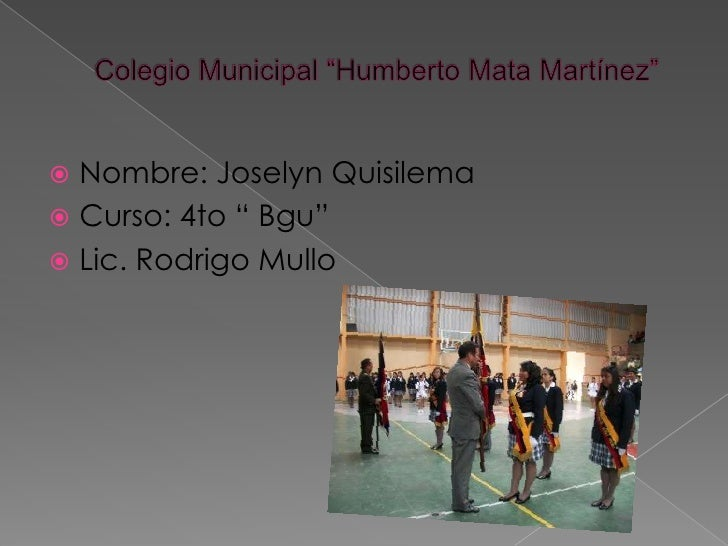 """ Nombre: Joselyn Quisilema Curso: 4to """" Bgu"""" Lic. Rodrigo Mullo"""