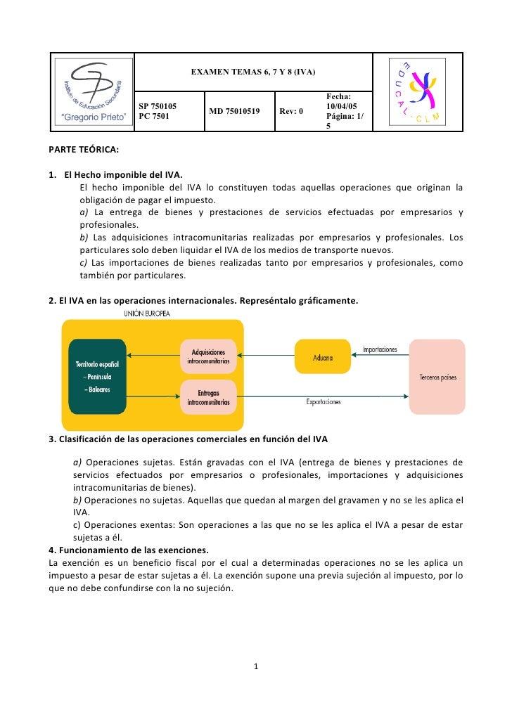 EXAMEN TEMAS 6, 7 Y 8 (IVA)                                                                 Fecha:                     SP ...