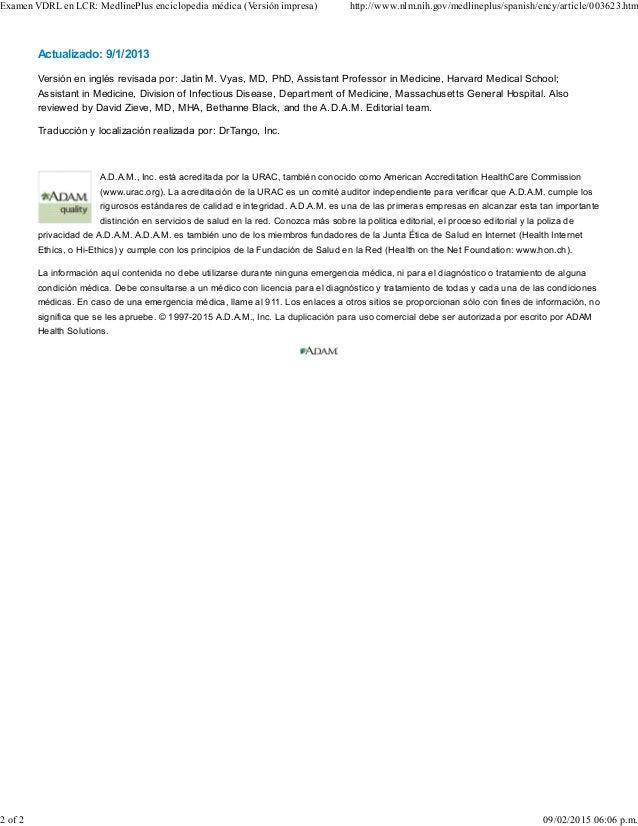 Actualizado: 9/1/2013 Versión en inglés revisada por: Jatin M. Vyas, MD, PhD, Assistant Professor in Medicine, Harvard Med...