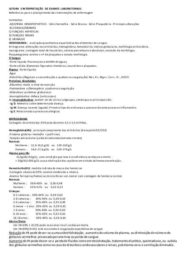 Resultados de exames laboratoriais