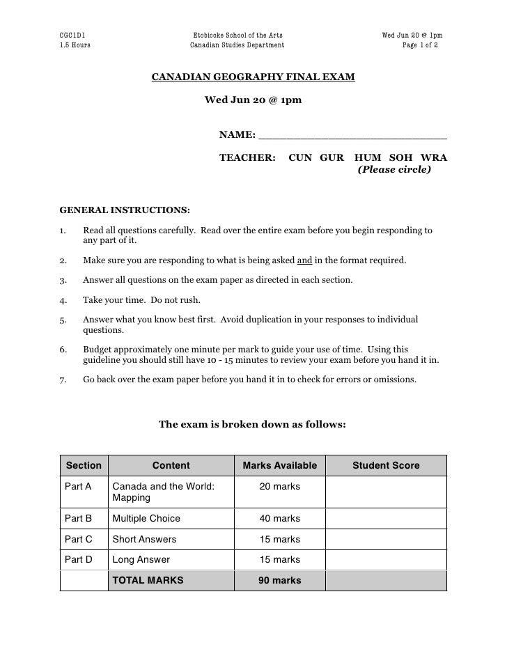 CGC1D1                              Etobicoke School of the Arts                   Wed Jun 20 @ 1pm1.5 Hours              ...