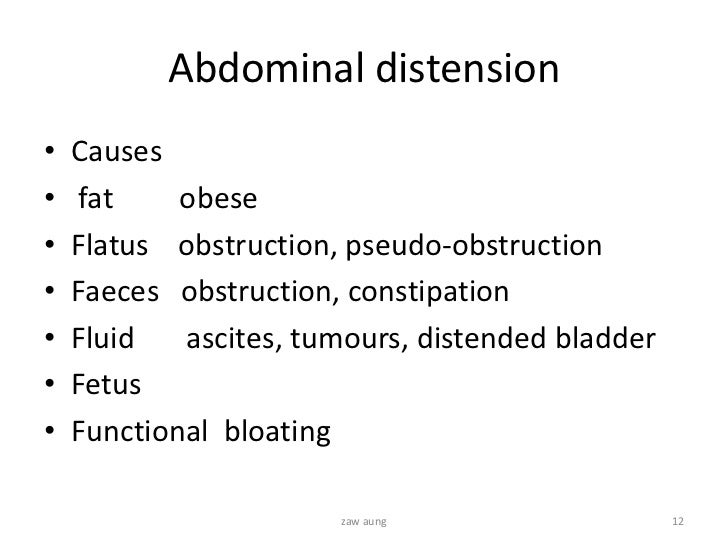Examination Of Gastrointestinal System By Hx