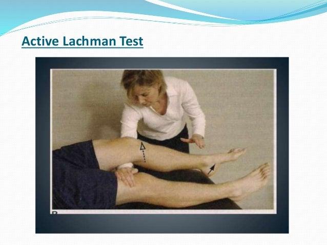 Examination of knee