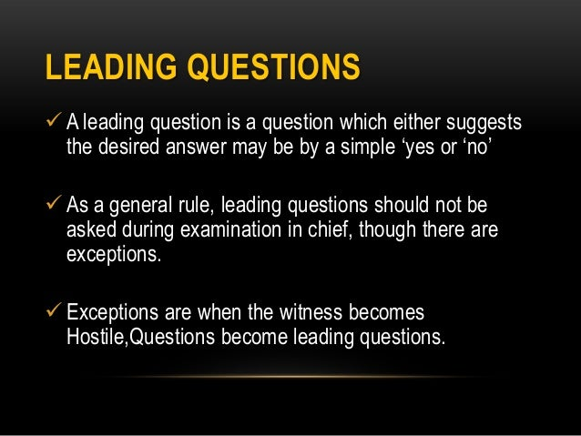 Leading question