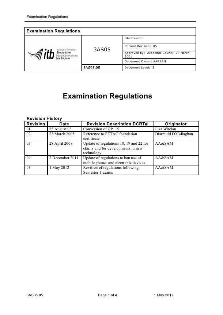 Examination RegulationsExamination Regulations                                                      File Location:        ...