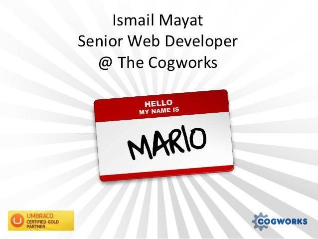 Ismail MayatSenior Web Developer  @ The Cogworks