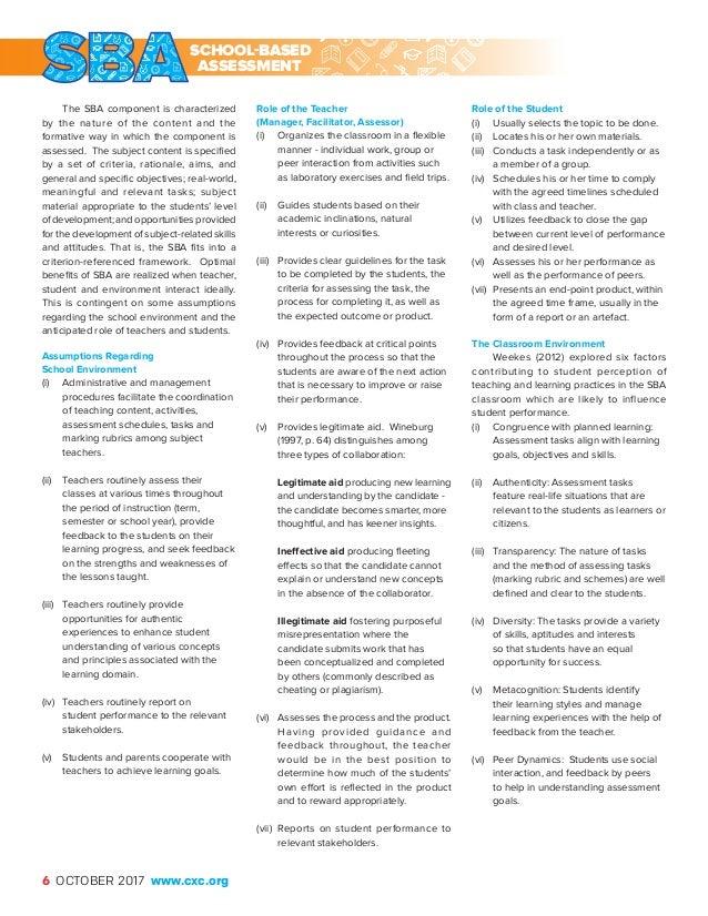 The caribbean examiner school based assessment assessment 6 the caribbean fandeluxe Gallery