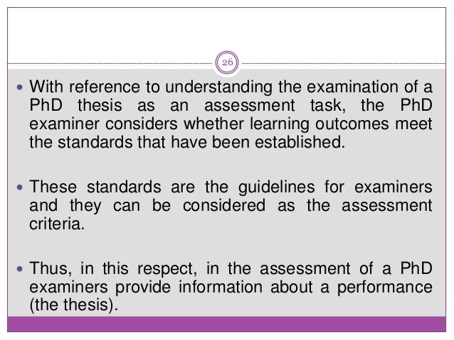 examiner comment on the literature review in phd thesis Providing background information for your phd thesis whichever field of study is your field, when you start work on your thesis, you are following the universal format of abstract introduction literature review or the background to your work can be encompassed in the literature review section.