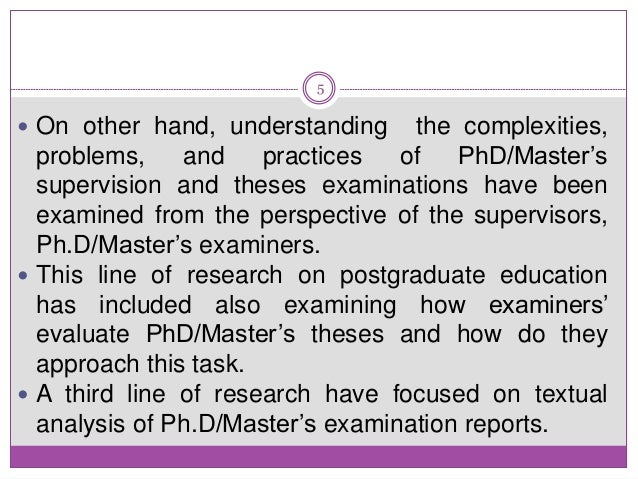 examiner report on doctoral thesis