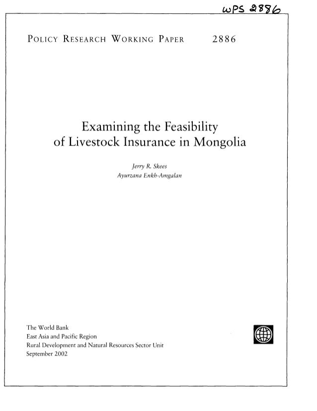 OPS A4TPOLICY RESEARCH WORKING PAPER                            28 8 6              Examining the Feasibility         of L...
