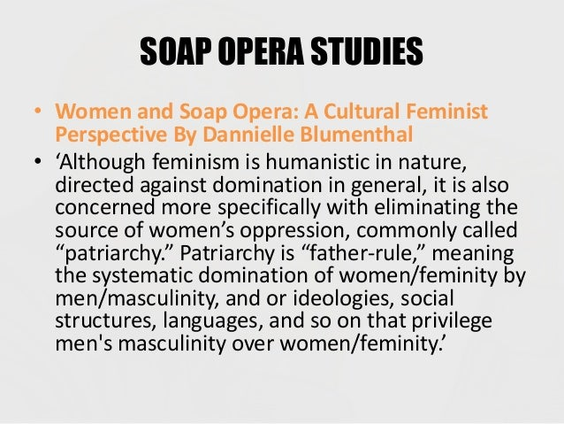 the feminist approach to the representation of women in the soap opera Soap opera and women's talk: the pleasure of resistance / mary ellen brown the representation of women in films based on imaginative literature / inger christensen berlin the feminist approach in film study: an analytical bibliography / frank manchel.