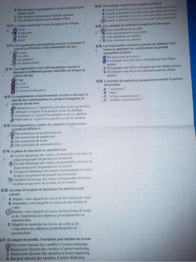 Exam marketing de base www.cours-economie.com Slide 2