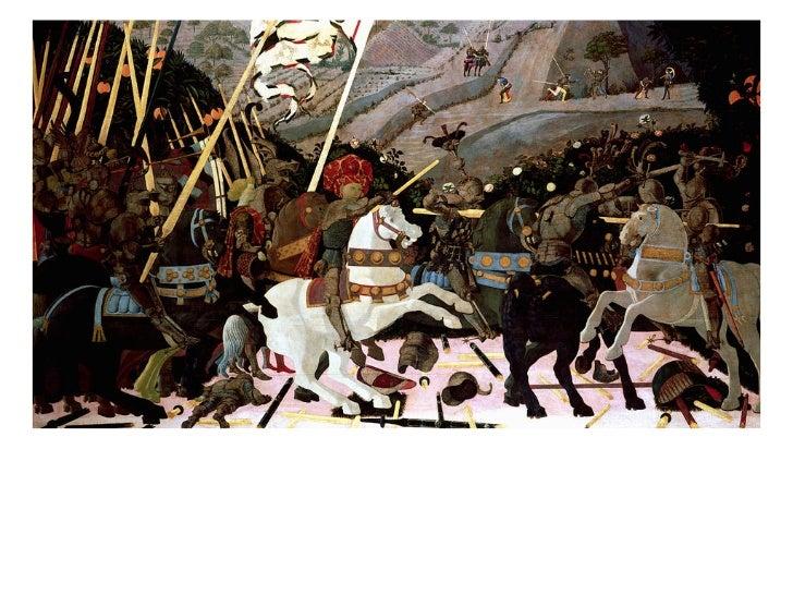 Paolo UccelloThe Battle of San Romano         1438-40