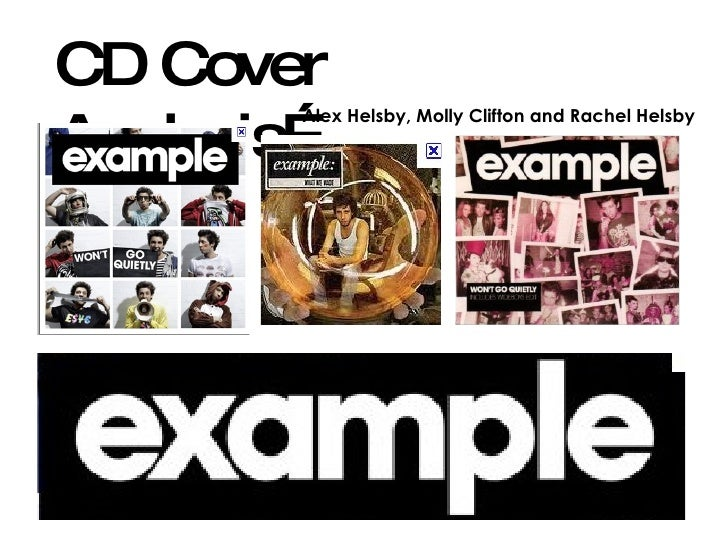 CD Cover Analysis… Alex Helsby, Molly Clifton and Rachel Helsby