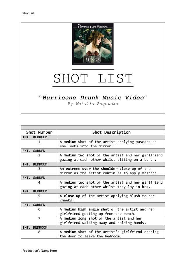 Shot List Productions Name Here SHOT LIST Hurricane Drunk Music Video By Natalia Rogowska
