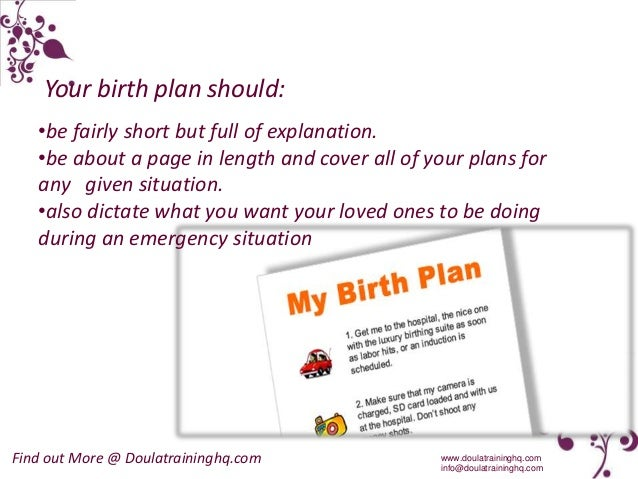 6 your birth plan