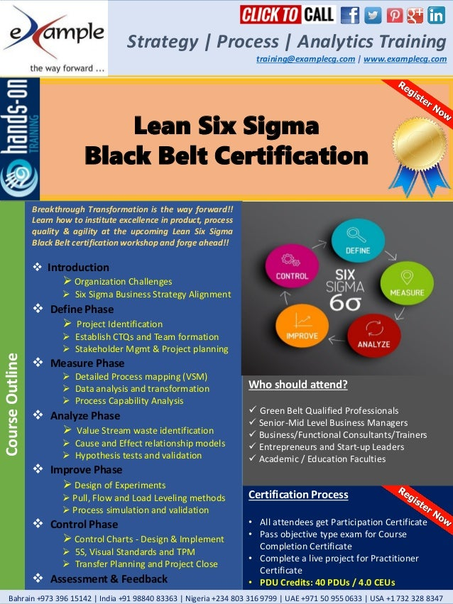 E Xamplecg Lean Six Sigma Black Belt Certification Course Brochure