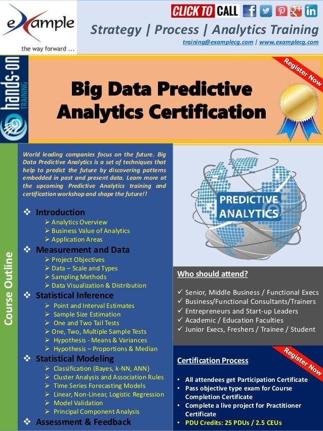 E Xamplecg Predictive Analytics Certification Course Brochure