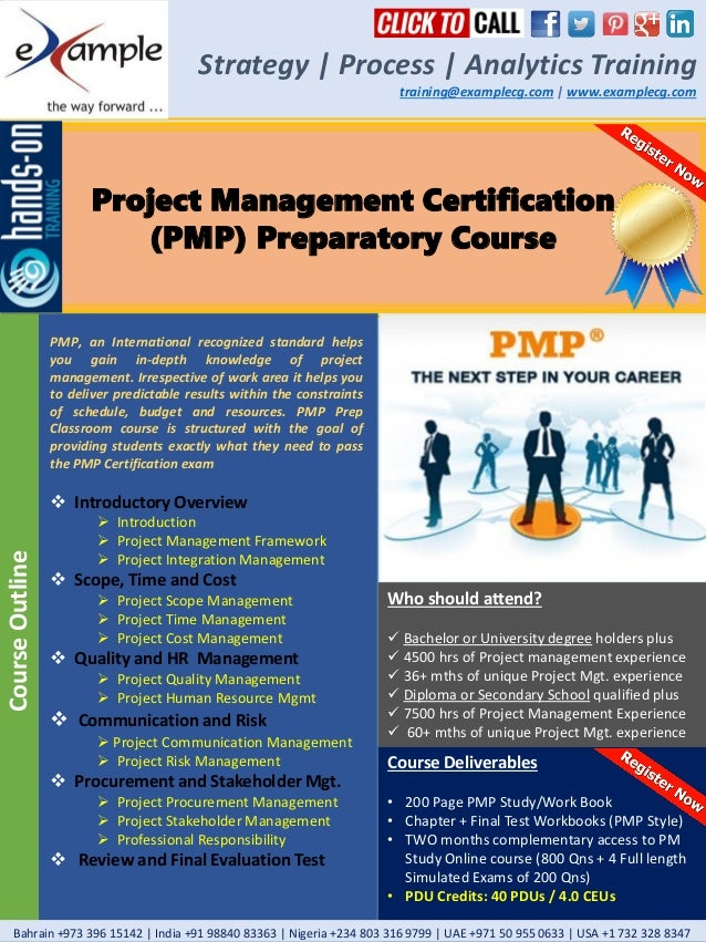 Examplecg Project Management Pmp Professional Pmp Certification Prep