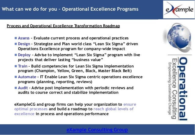 E xamplecg strategy analytics and operations excellence transformatio…