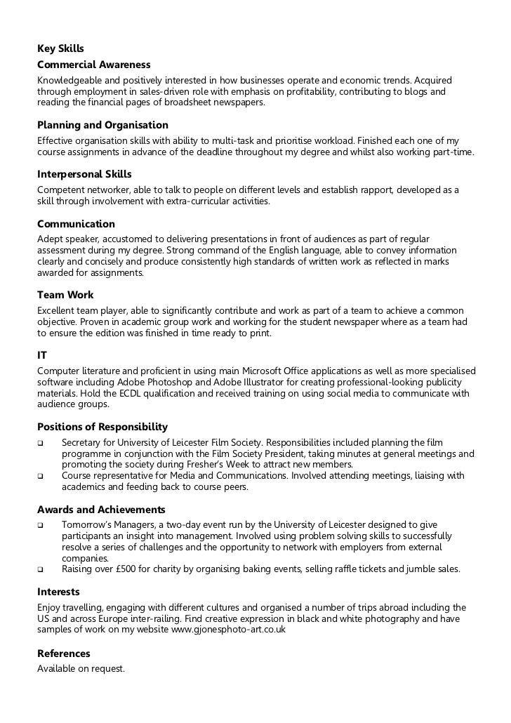 Example Of A Chronological Resume  Template