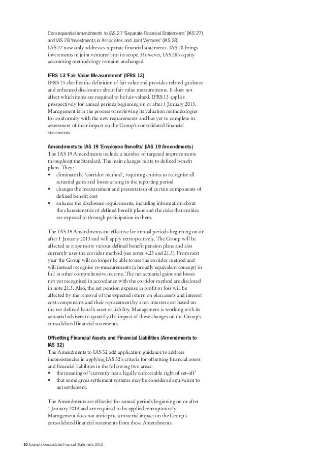 Example Consolidated Financial Statements 2012 Final