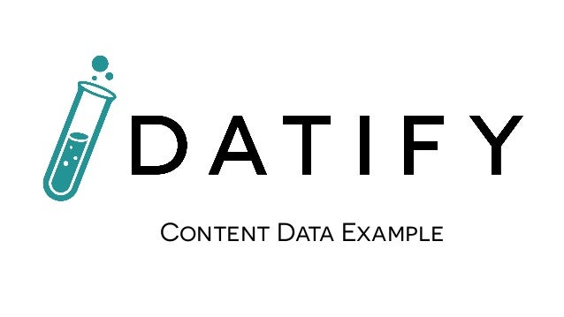 Content Data Example