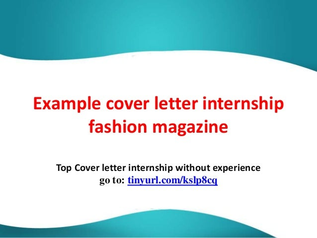 example cover letters for internships