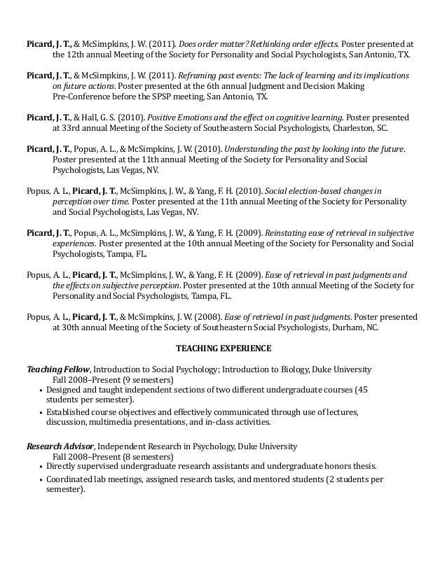 example of cv and resume