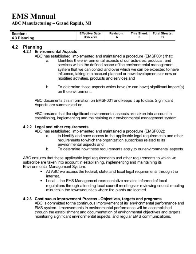 System Manual Template. doc 8001132 procedural manual template ...