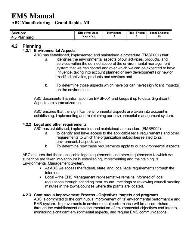 relevant documentsappendix 1 u2013 environmental policy 6