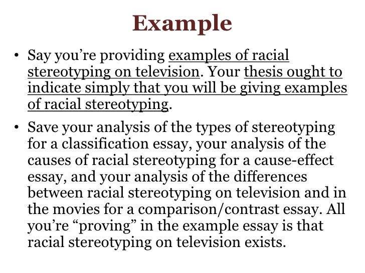Classification essay on stereotypes