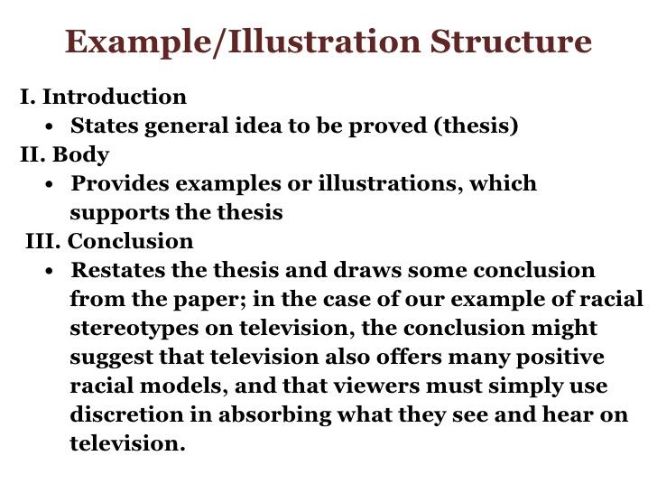Example illustration essay topics