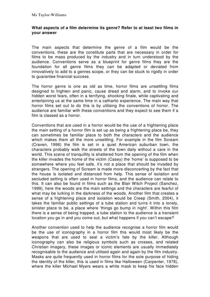 Horror narrative essay