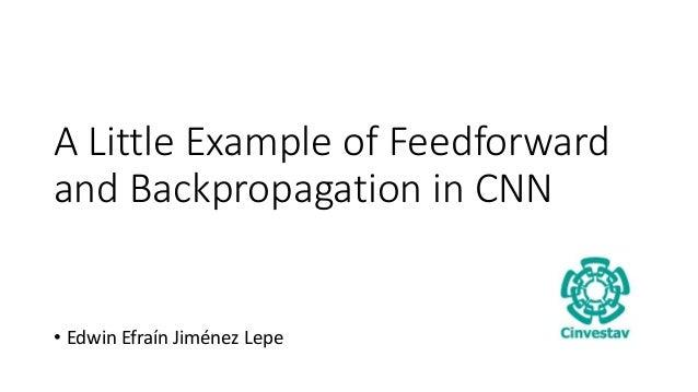 A Little Example of Feedforward and Backpropagation in CNN • Edwin Efraín Jiménez Lepe