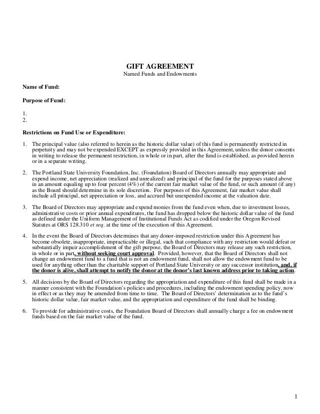 tax sharing agreement template - example gift agreement