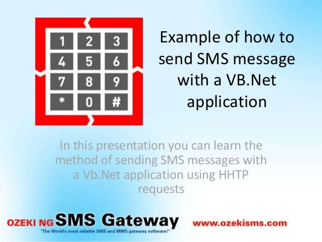 how to send sms net