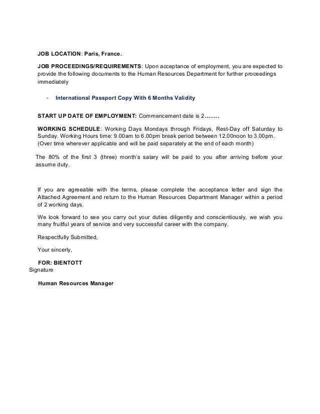 Acceptance letter job akbaeenw acceptance letter job spiritdancerdesigns Images