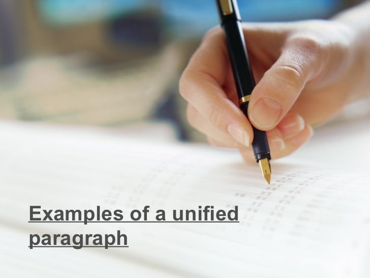 Examples of a unifiedparagraph