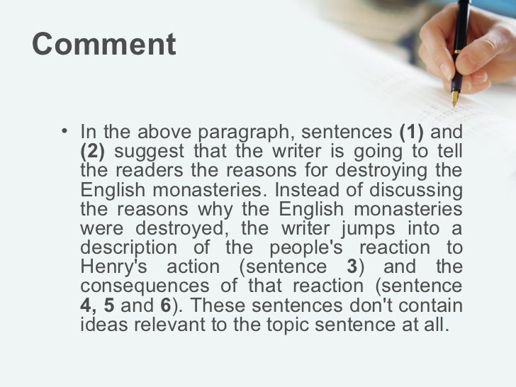 Example of a unified paragraph