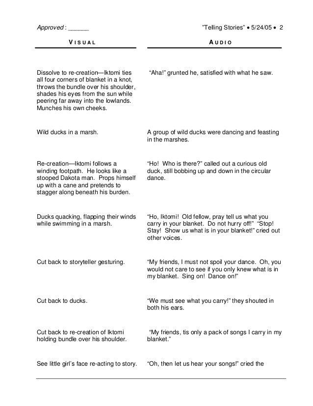 Example Of Dual Column Video Script Dakota Pathways
