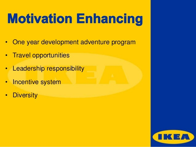 hr strategy for ikea The case discusses the innovative human resource management practices adopted by ikea and describes its work culture initiatives related to flexible work design, comprehensive benefits, quality of work life, and employee training and development are outlined.