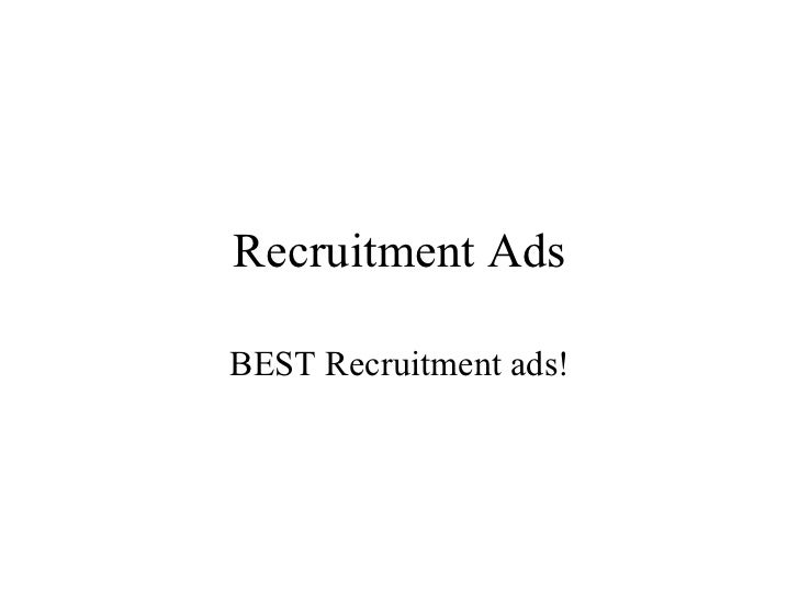 Recruitment Ads BEST Recruitment ads!