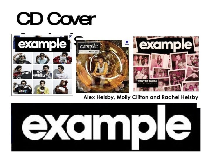 CD Cover Analysis Alex Helsby, Molly Clifton and Rachel Helsby