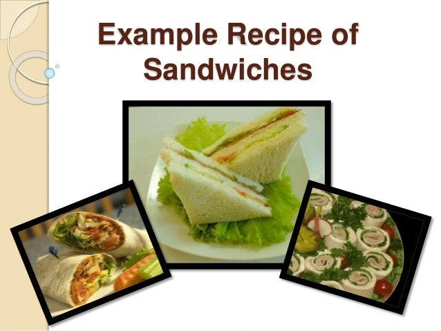Example Recipe Of Sandwiches