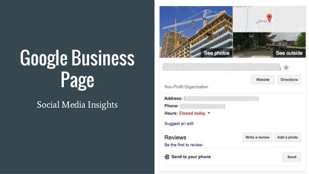 Google Business Page Social Media Insights