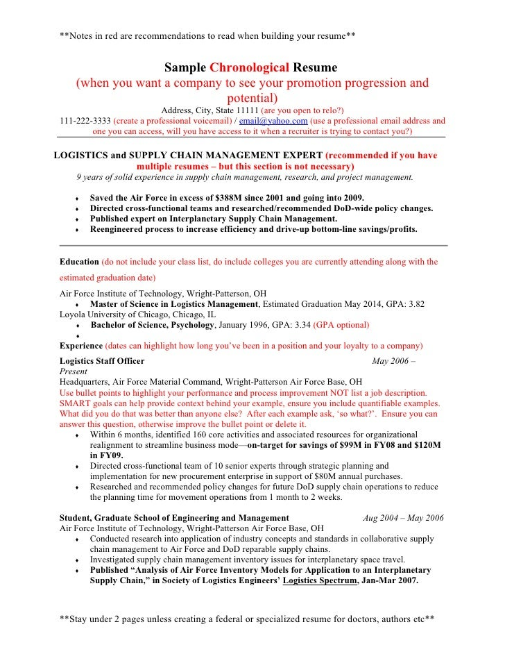 notes in red are recommendations to read when building your resume sample